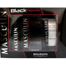 Комплект за мъже Bourjois Masculin Black Premium EDT 100 ml.+ део 200 мл. + душ гел 150 мл.