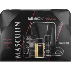 Комплект за мъже Bourjois MASCULIN Black Premium EDT 100 мл. + део 200 мл. + мъжка чанта