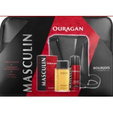 Комплект за мъже Bourjois MASCULIN Ouragan EDT 100 мл. + део 200 мл. + мъжка чанта