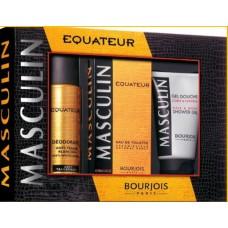 Комплект за мъже Bourjois Masculin Equateur EDT 100 мл.+ део 200 мл. + душ гел 150 мл.