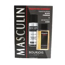 Комплект за мъже Bourjois Masculin Black Premium EDT 100 мл. +Дезодорант спрей Acier 200 мл.