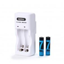 Зарядно за акумулаторни батерии, Remax RT-DC02, комплект с 2xAAA батерии, Бял - 14816
