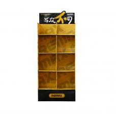 Настолен стелаж, Remax, 630x300x1590, Жълт с черен - 14829