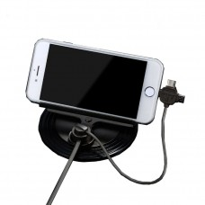 Стойка за мобилни устройства, Remax Letto, Метална, 3 в 1 Lightning, Micro USB, Type-C, Черен  - 17266