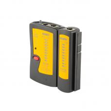 Тестер за LAN кабели, Jakemy JM-486AL, с LED фенер, Черен - 17620