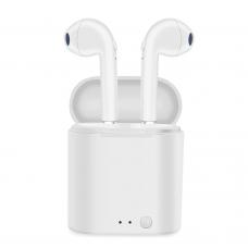Bluetooth слушалки No brand, HBQ i7 TWS, Бял – 20407