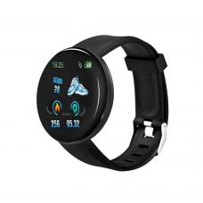 Смарт часовник No brand D18, 44mm, Bluetooth, IP67, Черен - 73051