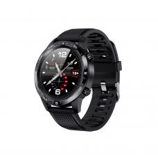 Смарт часовник No brand L12, 48mm, Bluetooth, IP68, Черен - 73037